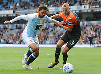 Blackburn Rovers' Bradley Dack vies for possession with Swansea City's Mike van der Hoorn<br /> <br /> Photographer Kevin Barnes/CameraSport<br /> <br /> The EFL Sky Bet Championship - Blackburn Rovers v Swansea City - Sunday 5th May 2019 - Ewood Park - Blackburn<br /> <br /> World Copyright © 2019 CameraSport. All rights reserved. 43 Linden Ave. Countesthorpe. Leicester. England. LE8 5PG - Tel: +44 (0) 116 277 4147 - admin@camerasport.com - www.camerasport.com