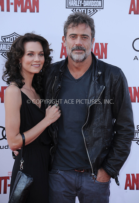 WWW.ACEPIXS.COM<br /> <br /> June 29 2015, LA<br /> <br /> Jeffrey Dean Morgan and Hilarie Burton arriving at the premiere of Marvel Studios 'Ant-Man' at the Dolby Theatre on June 29, 2015 in Hollywood, California.<br /> <br /> By Line: Peter West/ACE Pictures<br /> <br /> <br /> ACE Pictures, Inc.<br /> tel: 646 769 0430<br /> Email: info@acepixs.com<br /> www.acepixs.com