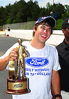 May 6, 2012; Commerce, GA, USA: NHRA  super stock driver Drew Skillman during the Southern Nationals at Atlanta Dragway. Mandatory Credit: Mark J. Rebilas-