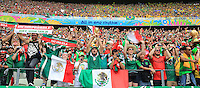 Mexican Fans as Players enter the Stadium for Kick Off
