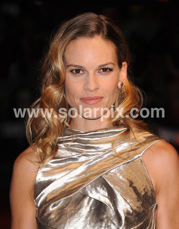 **ALL ROUND PICTURES FROM SOLARPIX.COM**                                             **WORLDWIDE SYNDICATION RIGHTS**                                                                                  Caption: .54th BFI London Film Festival Gala Screening of Conviction.  Held at the Vue Cinema, Leicester Square, London, on Friday October 15, 2010.                                                                              ..This pic: Hilary Swank                                                                                             ..JOB REF: 12320        SSD       DATE: 15.10.2010                                                           **MUST CREDIT SOLARPIX.COM OR DOUBLE FEE WILL BE CHARGED**                                                                      **MUST AGREE FEE BEFORE ONLINE USAGE**                               **CALL US ON: +34 952 811 768 or LOW RATE FROM UK 0844 617 7637**