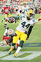 August 26 2016: Running Back James Starks of the Green Bay Packers during the Green Bay Packers during a 21-10 victory over the San Francisco 49ers at Levi's Stadium in Santa Clara, Ca.
