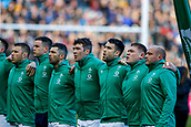 9th February 2019, Murrayfield Stadium, Edinburgh, Scotland; Guinness Six Nations Rugby Championship, Scotland versus Ireland; Ireland players line up before kickoff