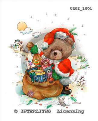GIORDANO, CHRISTMAS ANIMALS, WEIHNACHTEN TIERE, NAVIDAD ANIMALES, Teddies, paintings+++++,USGI1601,#XA#
