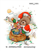 GIORDANO, CHRISTMAS ANIMALS, WEIHNACHTEN TIERE, NAVIDAD ANIMALES, Teddies, paintings+++++,USGI1601,#XA#