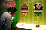 """A visitor sees the animals feces at the Toilet!? Human Waste & Earth's Future exposition on August 1, 2014 in Tokyo, Japan. The Toilet!? Human Waste & Earth's Future is an exposition to listen the toilet's voice and explore what is the """"happy toilet"""" for each human being on the earth at National Museum of Emerging Science and Innovation in Tokyo from July 2 to October 5. The toilet is related not only to our daily life but also to the global environment. The exposition consist of eight areas where you can learn toilet problems for each generation and in the world. (Photo by Rodrigo Reyes Marin/AFLO)"""