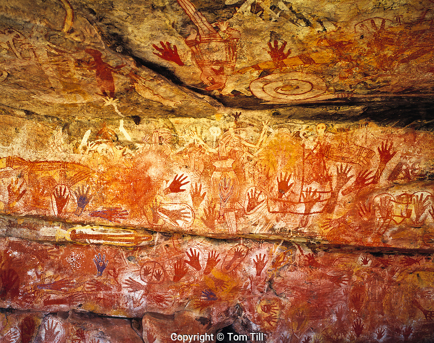 Rock Art at Major Art, Arnhem Land, Northern Territory, Australia