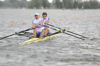Brandenburg, GERMANY,  GBR BM2X, Bow Charles COUSINS and Bill LUCUS, move away from the start at the 2008 FISA U23 World Rowing Championships, {idow], {date}, [Mandatory credit: Peter Spurrier Intersport Images].... Rowing Course: Brandenburg, Havel Rowing Course, Brandenburg, GERMANY