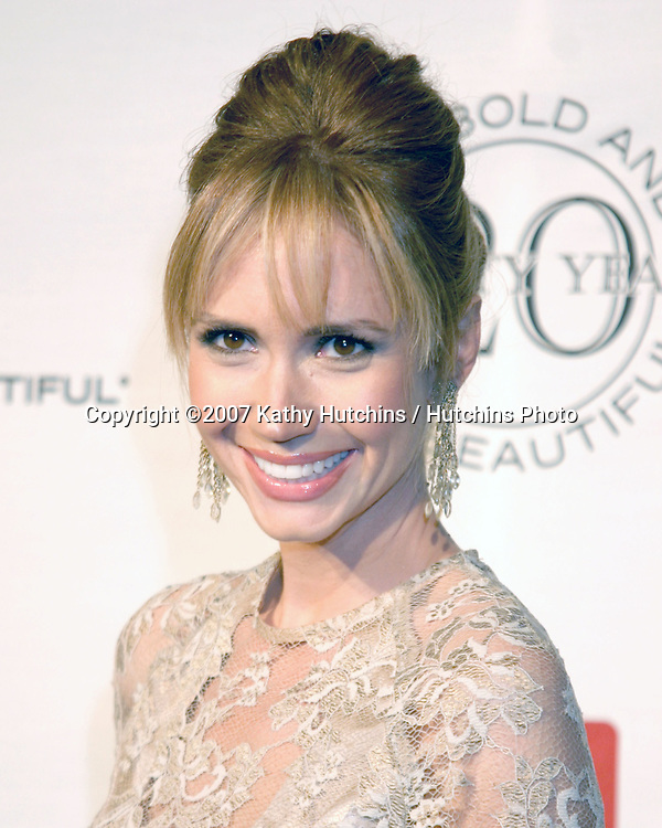 Ashley Jones.The Bold & The Beautiful 20th Anniversary Party.Two Rodeo Drive.Beverly Hills, CA.March 25, 2007.©2007 Kathy Hutchins / Hutchins Photo.