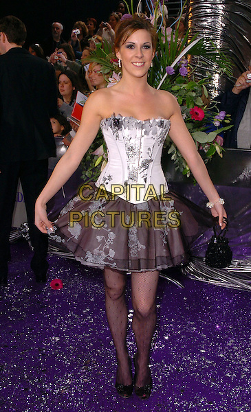 VERITY RUSHWORTH.The Brtish Soap Awards - Arrivals,.BBC Television centre, London, .London, England, May 20th 2006..full length white black corset top strapless skirt tights fashion disaster.Ref: CAN.www.capitalpictures.com.sales@capitalpictures.com.©Can Nguyen/Capital Pictures