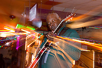 Carl Weathersby jams the blues at Kingston Mines in Chicago, Illinois.