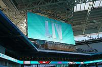 Videowand im Innenraum des Hard Rock Stadium bei den Vorbereitungen auf den Super Bowl LIV am 2. Februar zwischen den Kansas City Chiefs und San Francisco 49ers - 22.01.2020: SB LIV im Hard Rock Stadium Miami