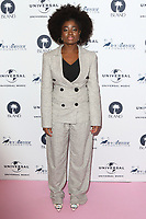 Clara Amfo at the Amy Winehouse Foundation Gala held at the Dorchester Hotel, Park Lane, London on October 5th 2017<br /> CAP/ROS<br /> &copy;ROS/Capital Pictures