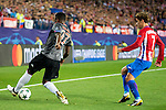 Atletico de Madrid's player Antoine Griezmann and Bayern Munich's player David Alaba during match of UEFA Champions League at Vicente Calderon Stadium in Madrid. September 28, Spain. 2016. (ALTERPHOTOS/BorjaB.Hojas)