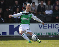 Leigh Griffiths in the St Mirren v Hibernian Clydesdale Bank Scottish Premier League match played at St Mirren Park, Paisley on 29.4.12.