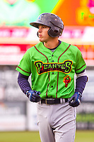 Lake County Captains shortstop Tyler Freeman (7) during a Midwest League game against the Wisconsin Timber Rattlers on May 10, 2019 at Fox Cities Stadium in Appleton, Wisconsin. Wisconsin defeated Lake County 5-4. (Brad Krause/Four Seam Images)