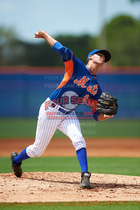 GCL Mets starting pitcher Marbin Montijo (64) during a game against the GCL Marlins on August 12, 2016 at St. Lucie Sports Complex in St. Lucie, Florida.  GCL Marlins defeated GCL Mets 8-1.  (Mike Janes/Four Seam Images)