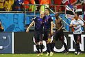 (L-R) Arjen Robben, Robin van Persie (NED), JUN 13, 2014 - Football / Soccer : FIFA World Cup Brasil<br /> match between Spain and Netherlands at the Arena Fonte Nova in Salvador de Bahia, Brasil. (Photo by AFLO) [3604]