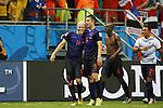 (L-R) Arjen Robben, Robin van Persie (NED), JUN 13, 2014 - Football / Soccer : FIFA World Cup Brasil<br /> match between Spain and Netherlands at the Arena Fonte Nova in Salvador de Bahia, Brasil. (Photo by AFLO) [3604]