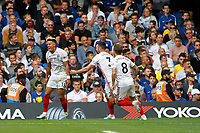 GOAL - Callum Robinson of Sheffield United celebrates during the Premier League match between Chelsea and Sheff United at Stamford Bridge, London, England on 31 August 2019. Photo by Carlton Myrie / PRiME Media Images.