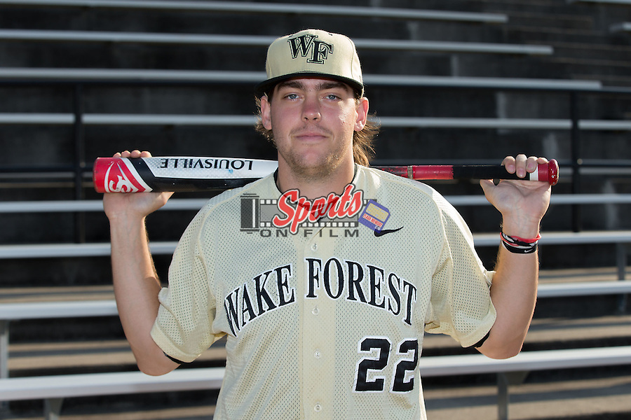 Will Craig (22) of the Wake Forest Demon Deacons poses for a photo prior to the game against the UConn Huskies at Wake Forest Baseball Park on March 17, 2015 in Winston-Salem, North Carolina.  The Demon Deacons defeated the Huskies 6-2.  (Brian Westerholt/Sports On Film)
