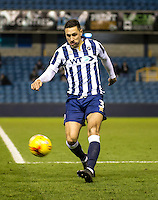 Joe Martin of Millwall during the Checkatrade Trophy round two Southern Section match between Millwall and Wycombe Wanderers at The Den, London, England on the 7th December 2016. Photo by Liam McAvoy.