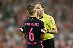 Spanish referee Mateu Lahoz have words with FC Barcelona's Denis Suarez during La Liga match. August 28,2016. (ALTERPHOTOS/Acero)