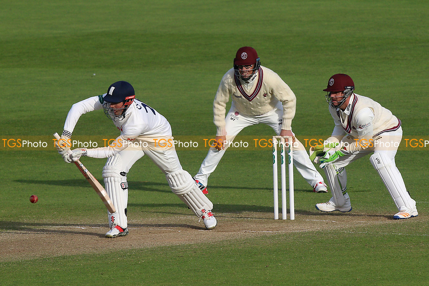 Alastair Cook plays defensively late in the day during Somerset CCC vs Essex CCC, Specsavers County Championship Division 1 Cricket at The Cooper Associates County Ground on 15th April 2017