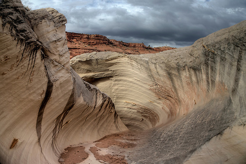 Unusually shaped rock formation called The Nautilus located in Southern Utah