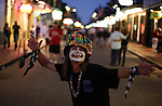 A street actor in  Bourbon Street New Orleans Louisiana Friday Oct 24 2008. Americans will go to the polls on Nov 4, at a time of great Financial crisis, war in Iraq and Afghanistan, to elect a  new President. A vote, that will affect not only America, but the whole world. Photo by Eyal Warshavsky .
