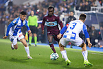 CD Leganes's  Oscar Rodriguez Arnaiz (L) and RC Celta de Vigo's Pione Sisto and David Costas during La Liga match 2019/2020 round 16<br /> December 8, 2019. <br /> (ALTERPHOTOS/David Jar)
