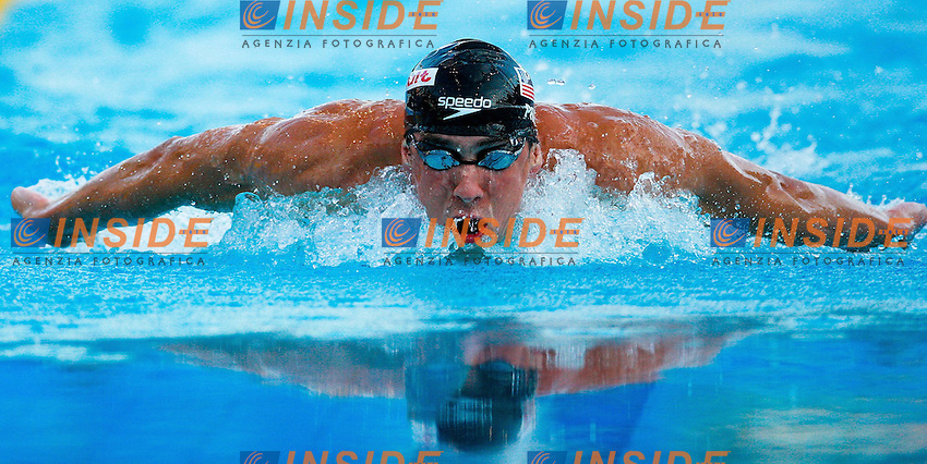 Roma 28th July 2009 - 13th Fina World Championships .From 17th to 2nd August 2009.200m Butterfly.Michael Phelps USA.photo: Roma2009.com/InsideFoto/SeaSee.com