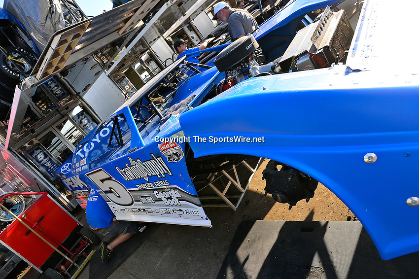 Feb 20, 2014; 5:03:14 PM;  Barberville, FL, USA;  World of Outlaws Late Model Series for 43rd Annual DIRTcar Nationals presented by Summit Racing Equipment at Volusia Speedway Park.  Mandatory Credit: (thesportswire.net)