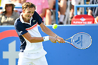 Washington, DC - August 4, 2019: Daniil Medvedev (RUS) returns the ball from Nick Kyrgios (AUS) NOT PICTURED during the Men's finals of the Citi Open at the Rock Creek Tennis Center, in Washington D.C. (Photo by Philip Peters/Media Images International)