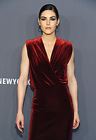 NEW YORK, NY - FEBRUARY 6: Hilary Rhoda arriving at the 21st annual amfAR Gala New York benefit for AIDS research during New York Fashion Week at Cipriani Wall Street in New York City on February 6, 2019. <br /> CAP/MPI/JP<br /> ©JP/MPI/Capital Pictures