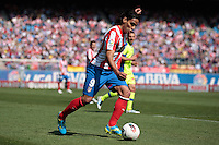 01.04.2012 MADRID, SPAIN -  La Liga match played between At. Madrid vs Getafe (3-0) at Vicente Calderon stadium. the picture show  Radamel Falcao Garcia (Colombian striker of At. Madrid)