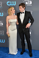 Emma Roberts &amp; Evan Peters at the 23rd Annual Critics' Choice Awards at Barker Hangar, Santa Monica, USA 11 Jan. 2018<br /> Picture: Paul Smith/Featureflash/SilverHub 0208 004 5359 sales@silverhubmedia.com