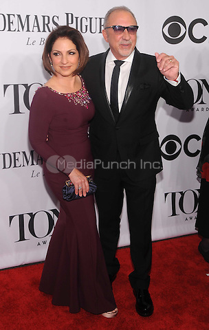 New York, NY- June 8: Gloria Estefan and Emilio Estefan attends the  American Theater Wing's 68th Annual Tony Awards  on June 8, 2014 at Radio City Music Hall in New York City. (C) Credit: John Palmer/MediaPunch