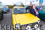 Mike Power and Mary Cronin from Kilflynn with their Toyota Starlet at the Threshing Festival in Blennerville on Sunday.