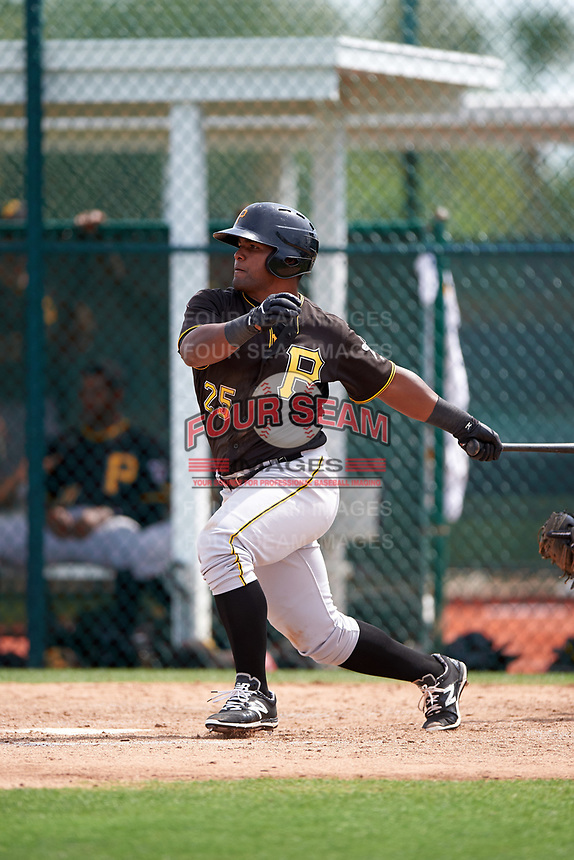 Pittsburgh Pirates Alexis Bastardo (25) during a minor league Spring Training intrasquad game on April 3, 2016 at Pirate City in Bradenton, Florida.  (Mike Janes/Four Seam Images)