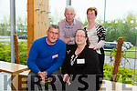Seamus Shanahan (Kerry Autism), Hannah Lane (Secretary) Dominic Walsh (Organising Committee) and   Noreen Dempsey (Chairperson Kerry Autism Action) at the Kerry Autism Action one day conference at the  IT Tralee Solas Building on Saturday