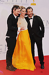 LOS ANGELES, CA - SEPTEMBER 23: Jeremy Davies, Leslie Mann, and Judd Apatow arrive at the 64th Primetime Emmy Awards at Nokia Theatre L.A. Live on September 23, 2012 in Los Angeles, California.