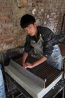 Producing traditional Hand Made paper Kathmandu, Nepal
