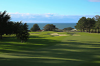 A general view of the 1st hole, Spyglass Hill Golf Course during previews ahead of the AT&amp;T Pro-Am, Pebble Beach Golf Links, Monterey, California, USA. 06/02/2019<br /> Picture: Golffile | Phil Inglis<br /> <br /> <br /> All photo usage must carry mandatory copyright credit (&copy; Golffile | Phil Inglis)