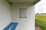 Tactics board in the home dugout. Yorkshire v Parishes of Jersey, CONIFA Heritage Cup, Ingfield Stadium, Ossett. Yorkshire's first competitive game. The Yorkshire International Football Association was formed in 2017 and accepted by CONIFA in 2018. Their first competative fixture saw them host Parishes of Jersey in the Heritage Cup at Ingfield stadium in Ossett. Yorkshire won 1-0 with a 93 minute goal in front of 521 people. Photo by Paul Thompson