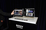 April 26th, 2011, Tokyo, Japan - Sony's first tablet computers are displayed at their unveiling ceremony in Tokyo on Tuesday, April 26, 2011. Sony launched its first tablet computers S1 and S2 which use an operating system based on Google's Android 3.0. (Photo by Koichi Mitsui/AFLO) -tm-.