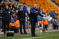 Portsmouth manager Kenny Jackett shouts instructions to his team from the technical area<br /> <br /> Photographer Alex Dodd/CameraSport<br /> <br /> The EFL Sky Bet League One - Blackpool v Portsmouth - Saturday 11th November 2017 - Bloomfield Road - Blackpool<br /> <br /> World Copyright &copy; 2017 CameraSport. All rights reserved. 43 Linden Ave. Countesthorpe. Leicester. England. LE8 5PG - Tel: +44 (0) 116 277 4147 - admin@camerasport.com - www.camerasport.com