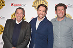 LAS VEGAS, CA - MARCH 29: (L-R) Producer Ivan Reitman, actor Ed Helms and director Lawrence Sher arrive at CinemaCon 2017 Warner Bros. Pictures Invites You to ?The Big Picture?, an Exclusive Presentation of our Upcoming Slate at The Colosseum at Caesars Palace during CinemaCon, the official convention of the National Association of Theatre Owners, on March 29, 2017 in Las Vegas, Nevada.