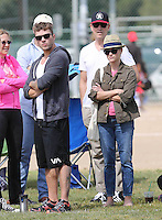 Reese Whiterspoon with Jim Toth & ex husband at son's football game - Los Angeles