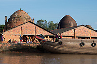 The Brick production and Kiln of Vinh Long in the Mekong Delta, Vietnam.